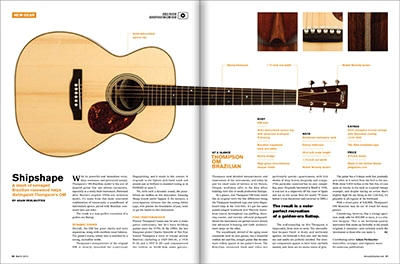 Brazilian OM Reviewed Acoustic Guitar Magazine