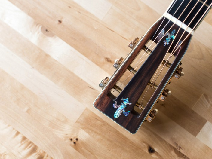 Preston Thompson Brazilian Rosewood OM Guitar Headstock