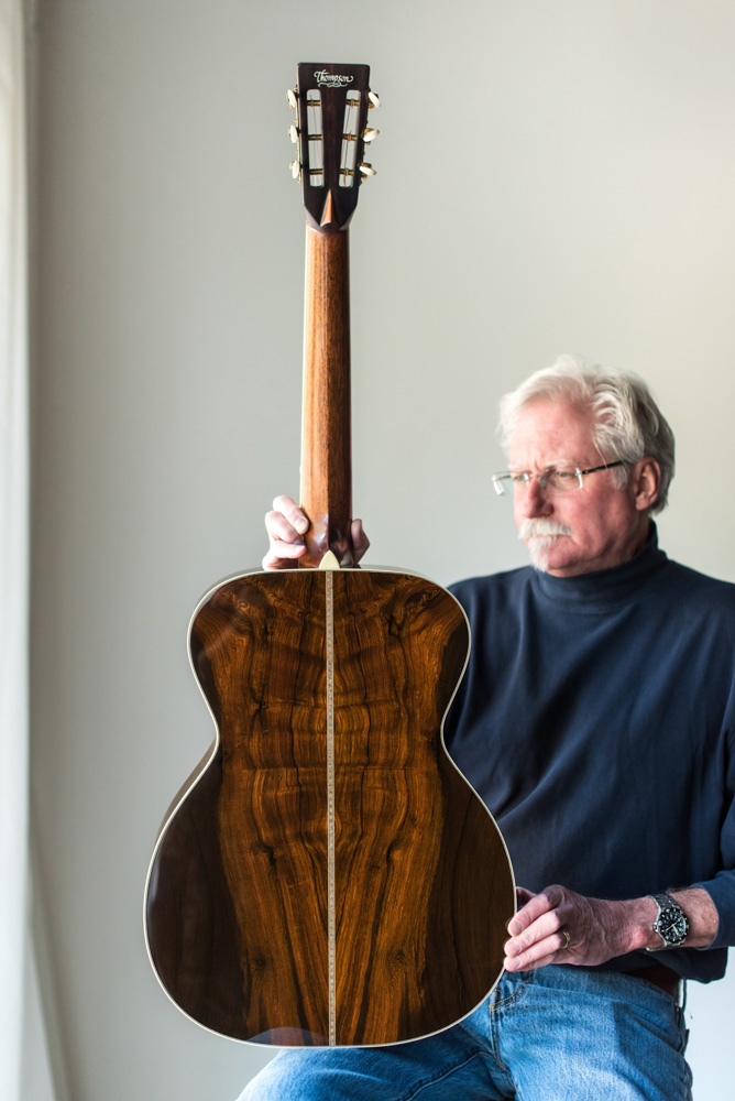 Preston Thompson with Brazilian Rosewood OM Guitar