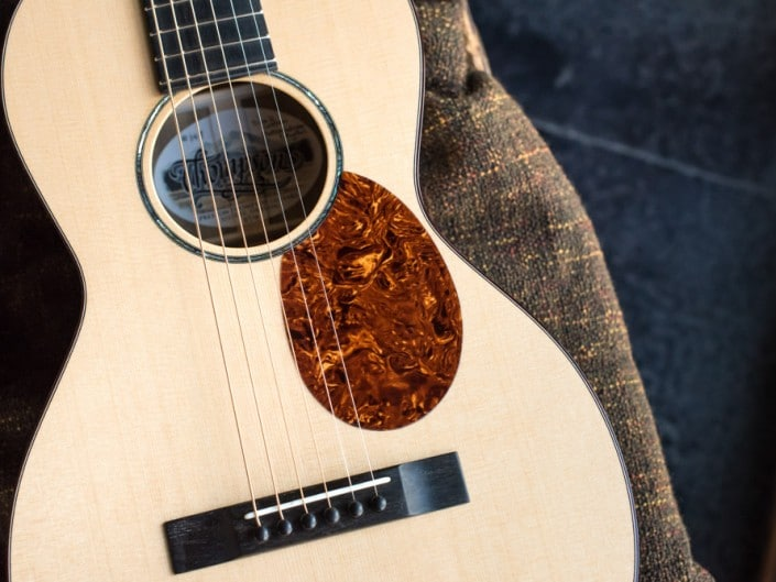 Preston Thompson ustom Size 2 Parlor handmade with Port Orford Cedar and Oregon Myrtlewood acoustic guitar 3