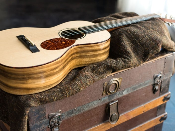 Preston Thompson ustom Size 2 Parlor handmade with Port Orford Cedar and Oregon Myrtlewood acoustic guitar 4