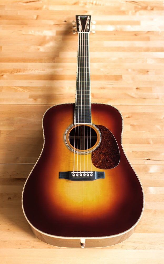 Preston Thompson Acoustic Guitars Exclusive Chris Luquette Signature Dreadnought guitar, handcrafted from Brazilian Rosewood.