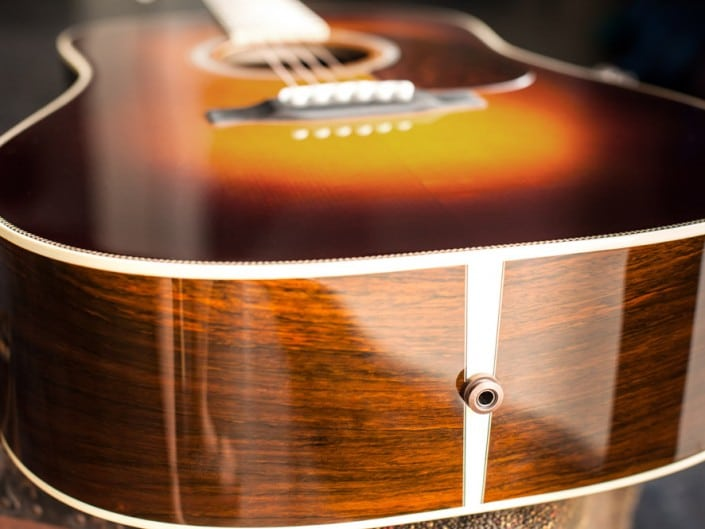 Preston Thompson Acoustic Guitars Exclusive Chris Luquette Signature Dreadnought guitar, handcrafted from Brazilian Rosewood. Top and sides