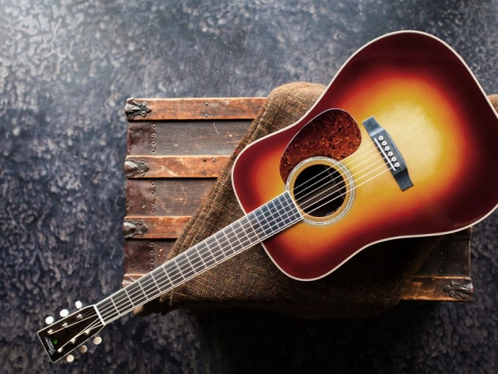 Preston Thompson Acoustic Guitars Exclusive Chris Luquette Signature Dreadnought guitar, handcrafted from Brazilian Rosewood. Full