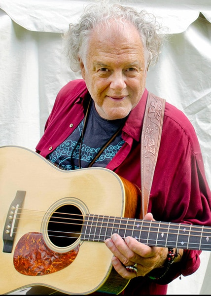 Peter Rowan playing Preston Thompson Acoustic Guitar