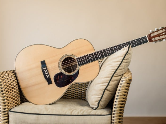 Preston Thompson's personal 12 Fret 00 acoustic guitar. Full guitar