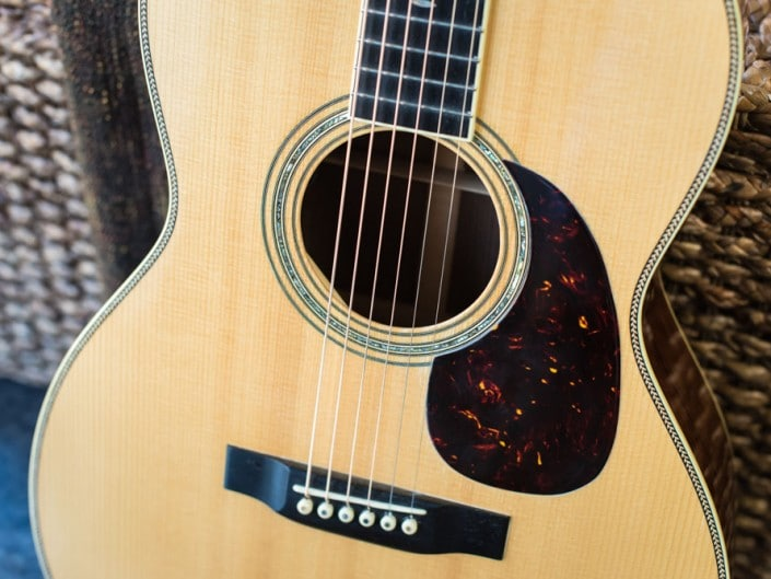 Preston Thompson's personal 12 Fret 00 acoustic guitar.