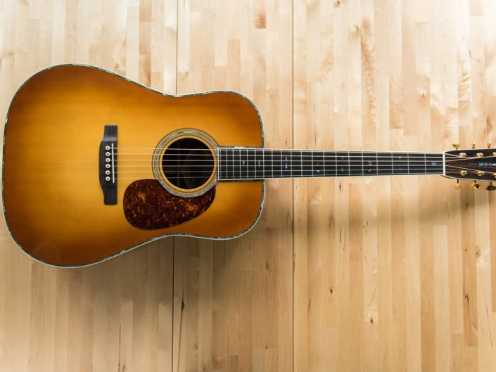 custom dreadnought acoustic guitar