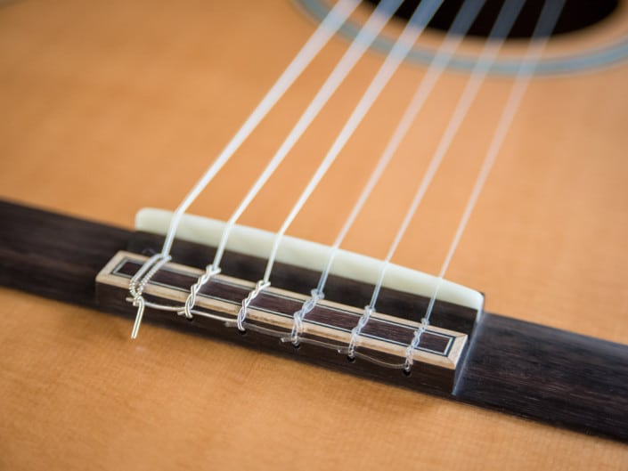 classical hybrid acoustic guitar with custom inlay