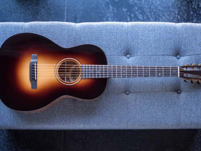 custom 12 fret 00 acoustic guitar