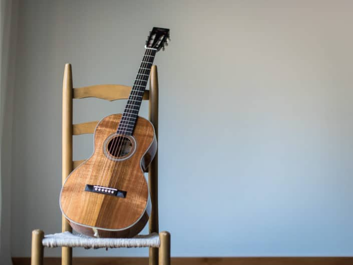 acoustic parlor guitar koa wood