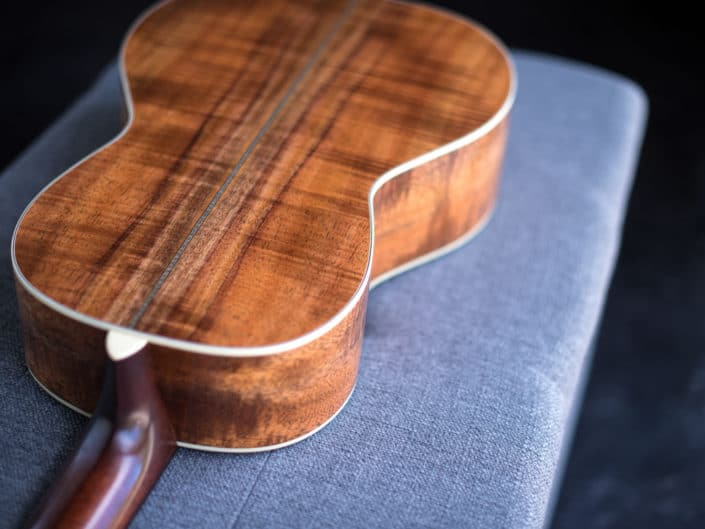 koa wood acoustic parlor guitar