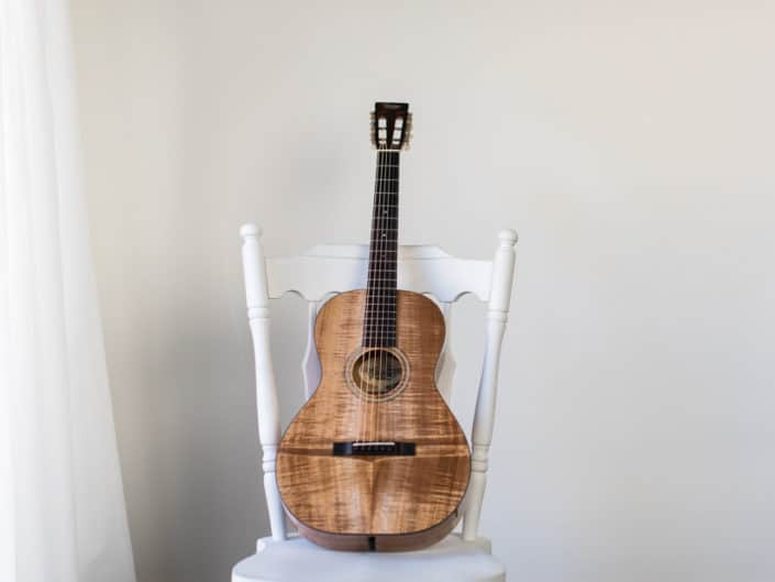 koa wood 12 fret 0 acoustic guitar