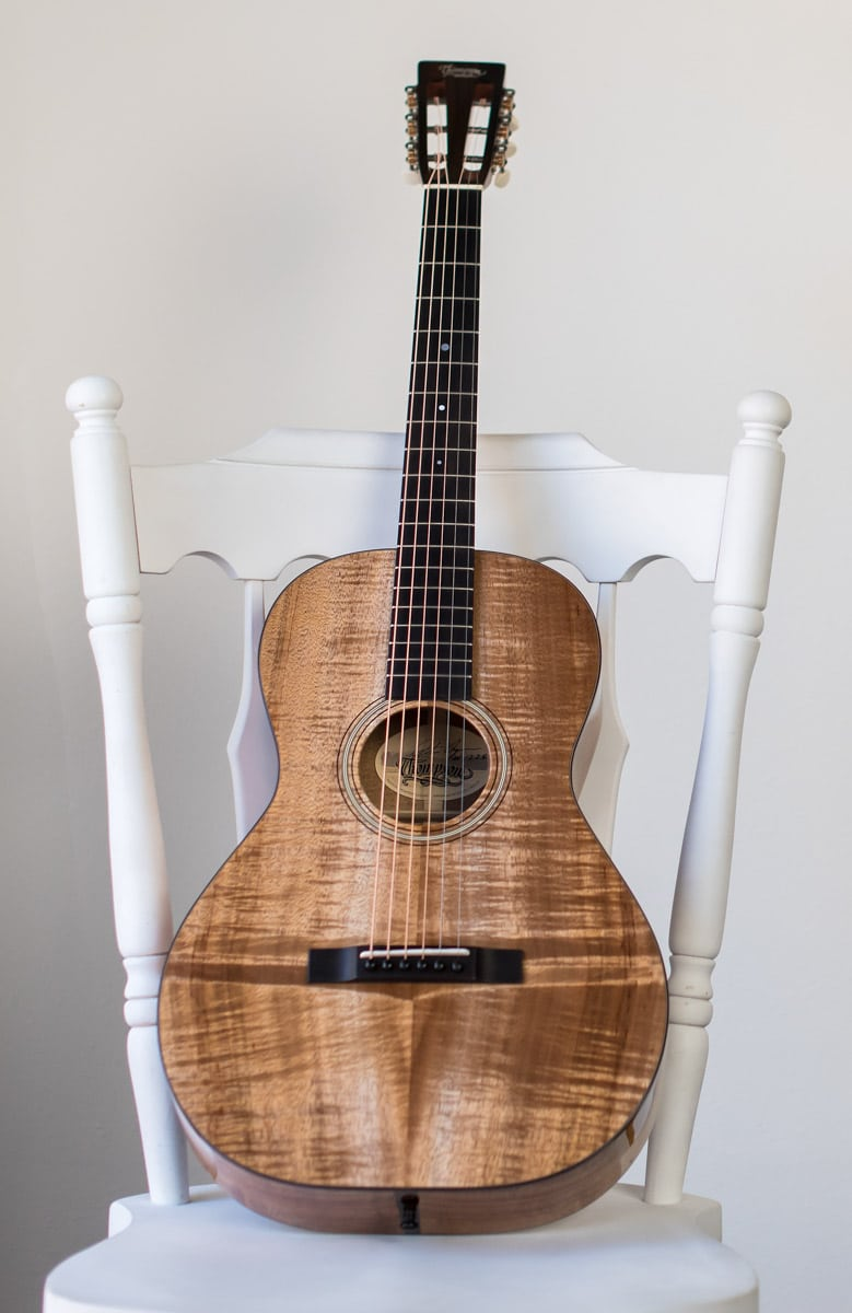 12 fret 0 guitar handcrafted of koa wood