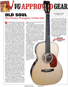 vintage guitar magazine review preston thompson