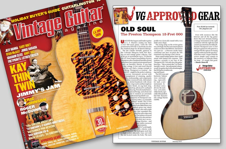 Vintage Guitar Magazine review