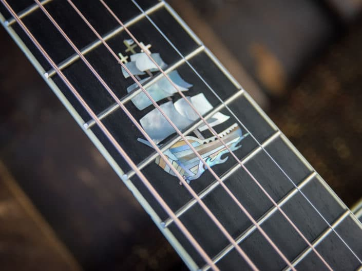custom inlay acoustic guitar