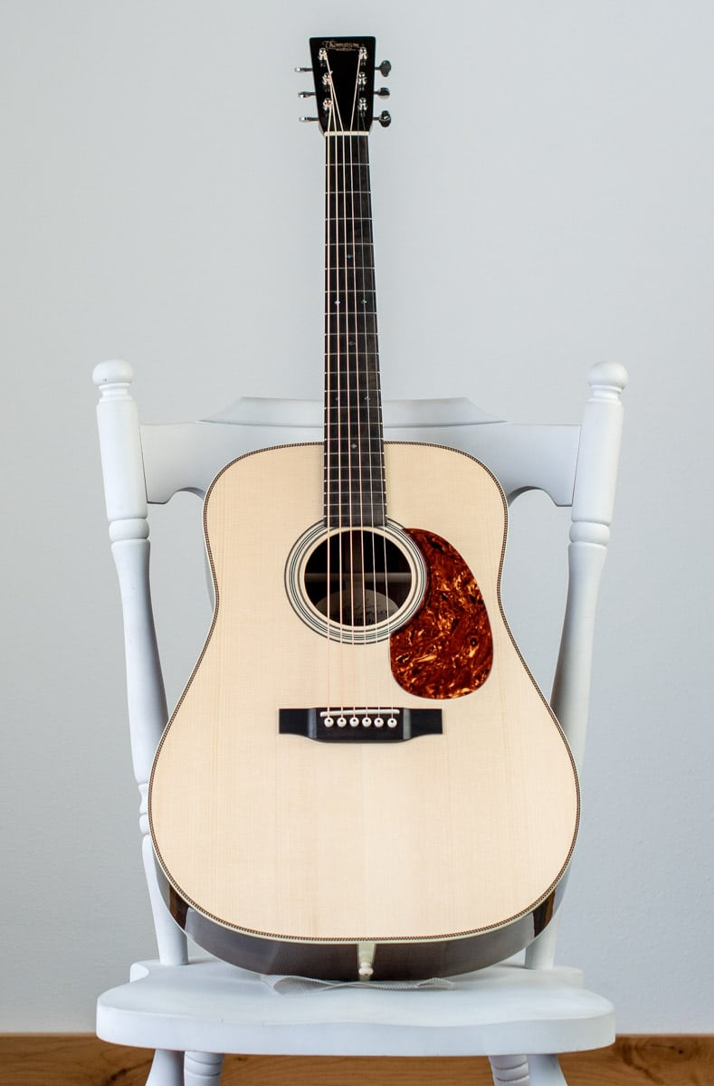 custom dreadnought handbuilt acoustic guitar