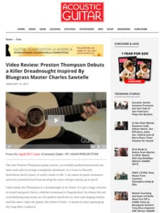 acoustic guitar magazine april 2017 preston thompson guitars review