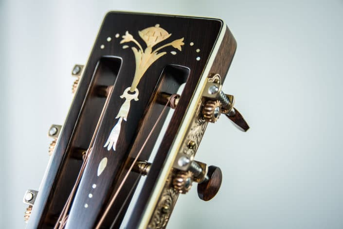 custom acoustic guitar inlay