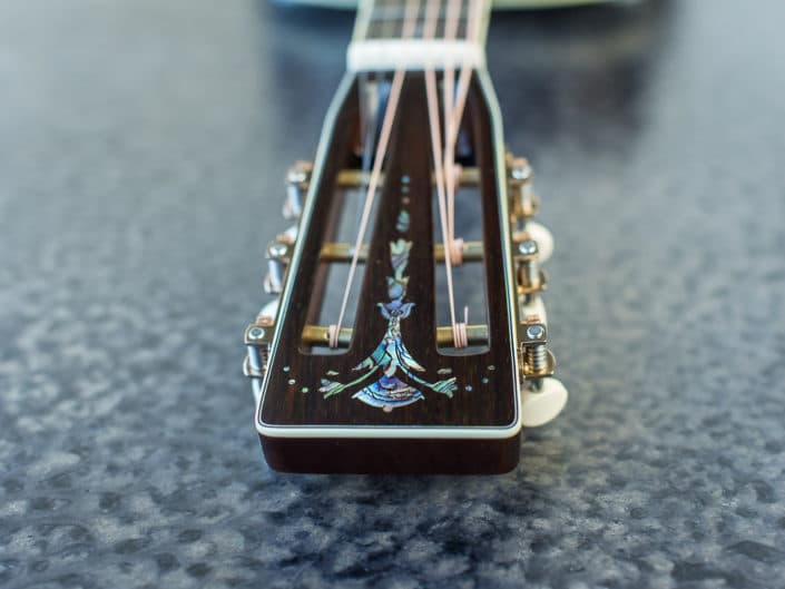custom inlay acoustic guitar dreadnought