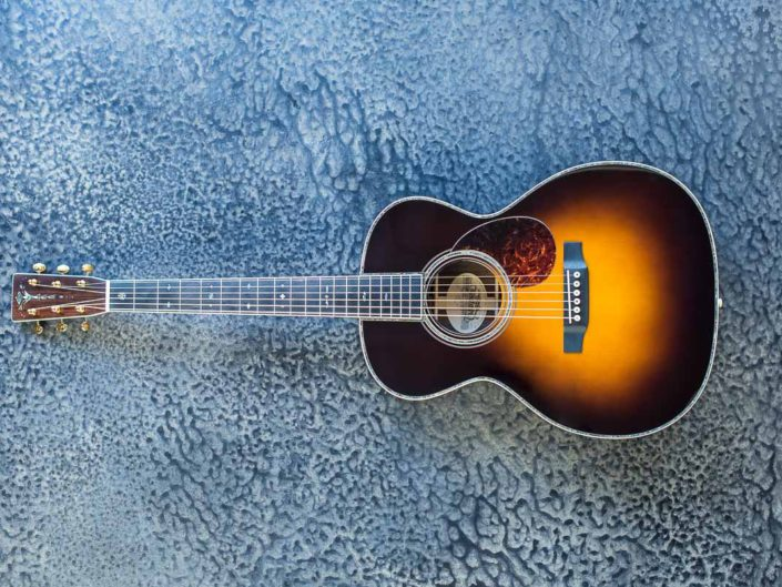 custom sunburst acoustic guitar