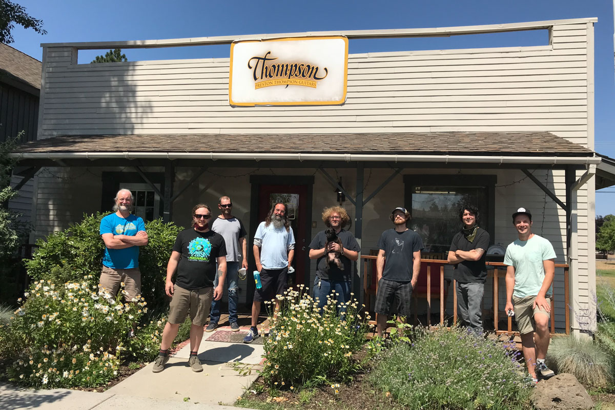 Meet the crew behind the masterpieces at Preston Thompson Guitars