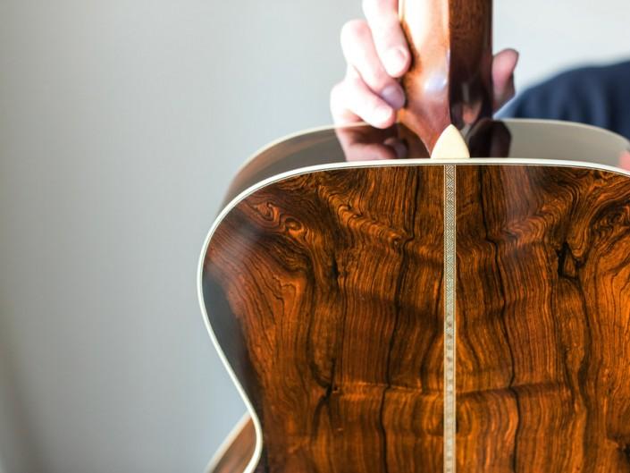 Preston Thompson Brazilian Rosewood OM Guitar Back