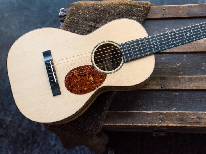 Preston Thompson ustom Size 2 Parlor handmade with Port Orford Cedar and Oregon Myrtlewood acoustic guitar