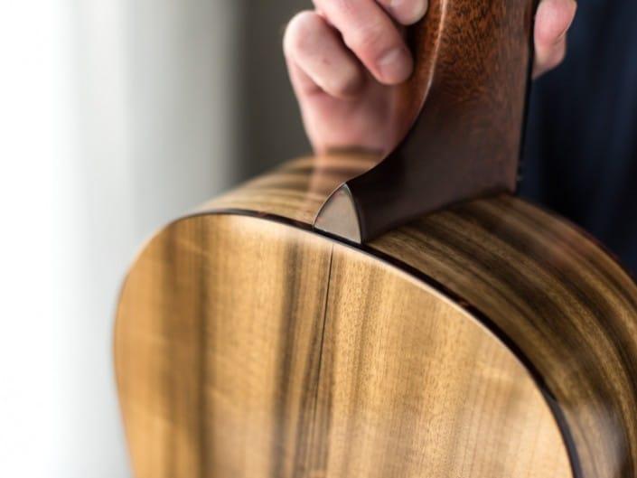Preston Thompson ustom Size 2 Parlor handmade with Port Orford Cedar and Oregon Myrtlewood acoustic guitar back 11