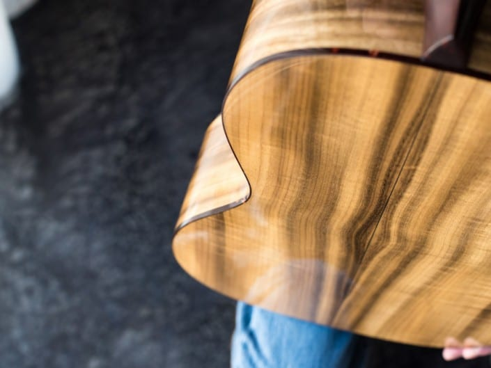 Preston Thompson ustom Size 2 Parlor handmade with Port Orford Cedar and Oregon Myrtlewood acoustic guitar 12