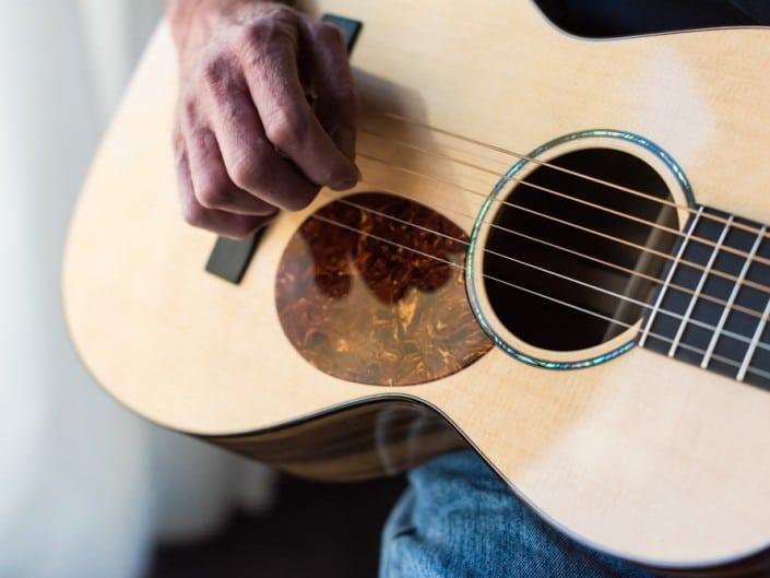 Preston Thompson ustom Size 2 Parlor handmade with Port Orford Cedar and Oregon Myrtlewood acoustic guitar 15