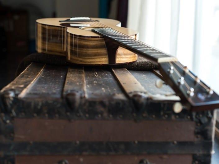 Preston Thompson ustom Size 2 Parlor handmade with Port Orford Cedar and Oregon Myrtlewood acoustic guitar 2
