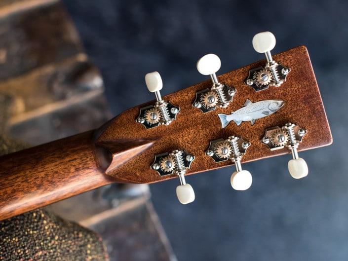 Preston Thompson ustom Size 2 Parlor handmade with Port Orford Cedar and Oregon Myrtlewood acoustic guitar 6