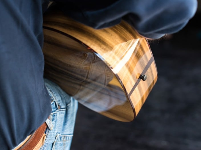 Preston Thompson ustom Size 2 Parlor handmade with Port Orford Cedar and Oregon Myrtlewood acoustic guitar 7