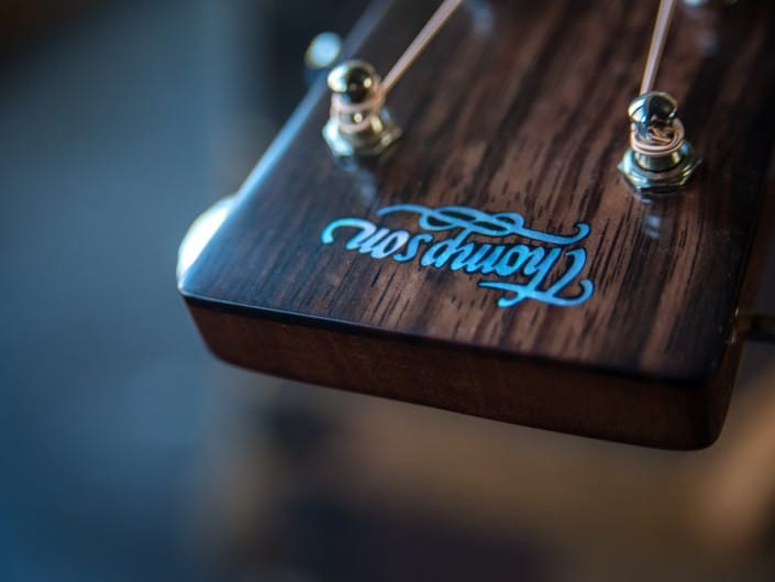 Acoustic dreadnought guitar handcrafted of mahogany back and sides with an adirondack top. 12