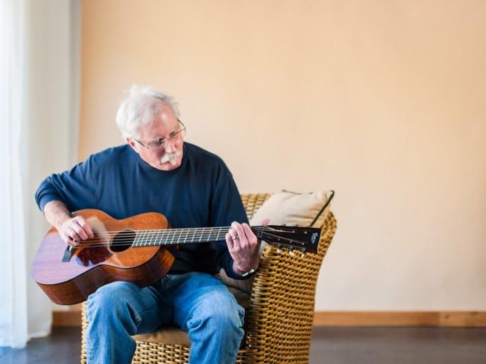 Preston Thompson playing acoustic-guitar-mahogany-size-2-parlor-14