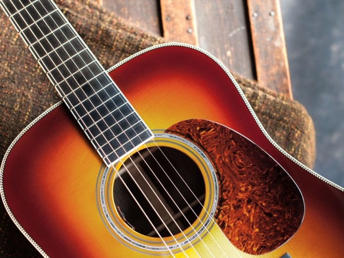 Preston Thompson Acoustic Guitars Exclusive Chris Luquette Signature Dreadnought guitar, handcrafted from Brazilian Rosewood. Top 2