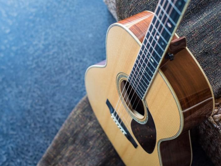 Preston Thompson's personal 12 Fret 00 acoustic guitar. 4
