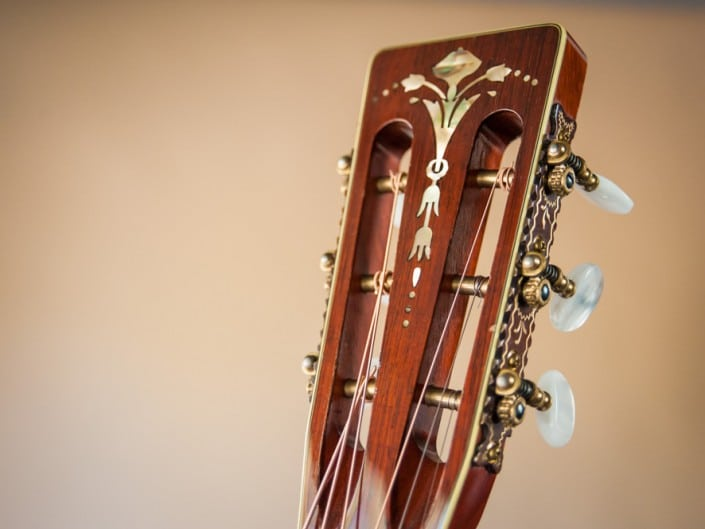 Preston Thompson's personal 12 Fret 00 acoustic guitar. 7