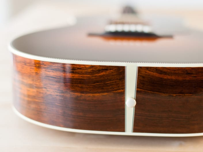 12 Fret 000 acoustic guitar handcrafted from Adirondack Spruce and Brazilian Rosewood. 3