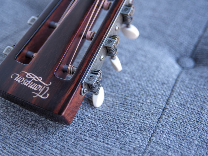 handcrafted acoustic parlor guitar