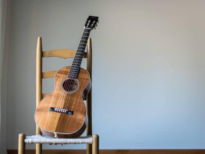 acoustic parlor guitar koa wood