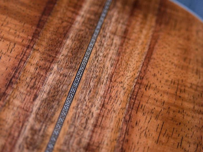 koa wood acoustic parlor guitar