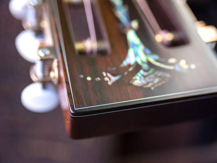 custom inlay acoustic guitar headstock