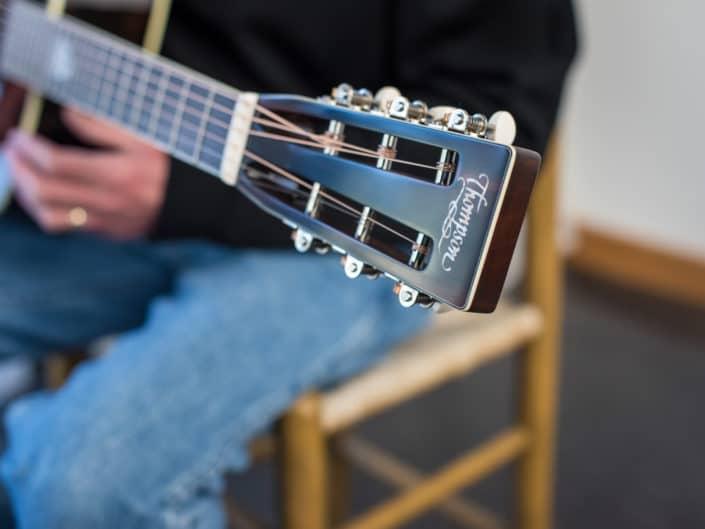 custom inlay acoustic guitar
