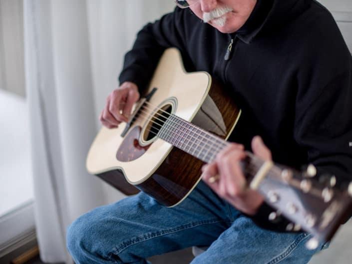 custom dreadnought handbuilt acoustic guitar