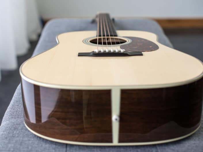 mahogany dreadnought acoustic guitar