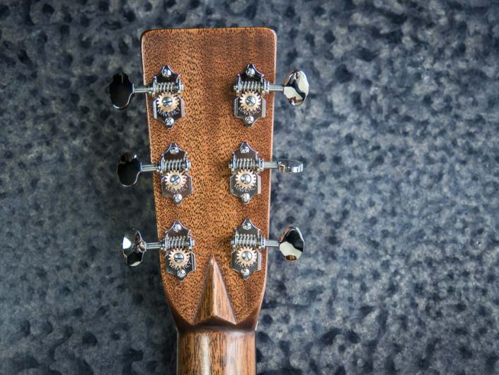 000 Acoustic Back of headstock with volute