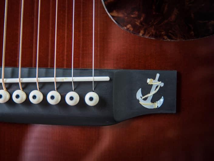 custom acoustic guitar inlay